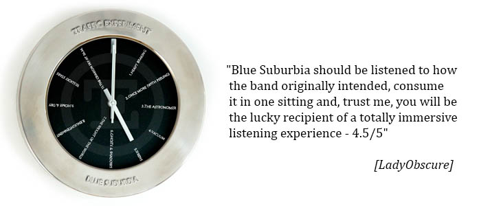 Traffic Experiment - Blue Suburbia quote